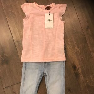 7 for all Mankind jean ruffle set